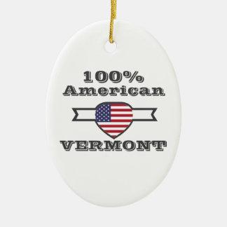 Américain de 100%, Vermont Ornement Ovale En Céramique