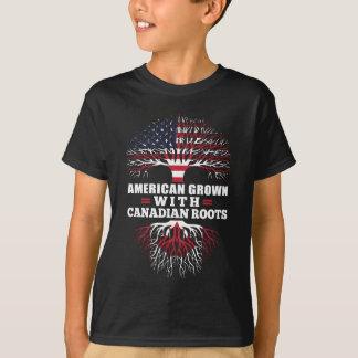Américain développé avec les racines canadiennes t-shirt