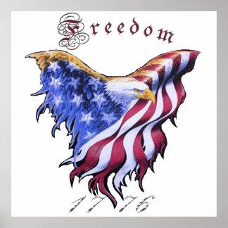 Américain Eagle - affiche de liberté