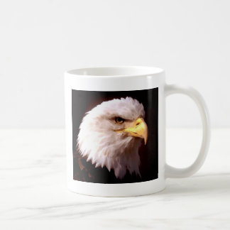 Américain Eagle d'Eagle chauve Mug Blanc