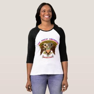 Américain Eagle du T-shirt des femmes d'éclipse