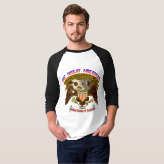 Américain Eagle du T-shirt des hommes d'éclipse