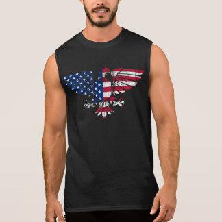 Américain Eagle et conception de drapeau. T-shirt