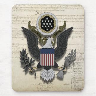 Américain Eagle sur la constitution Tapis De Souris