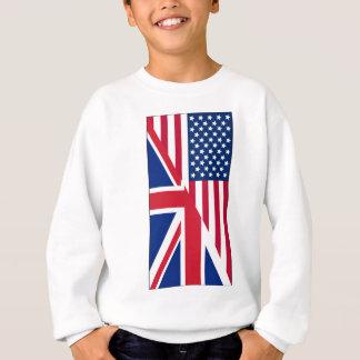 Américain et drapeau d'Union Jack Sweatshirt