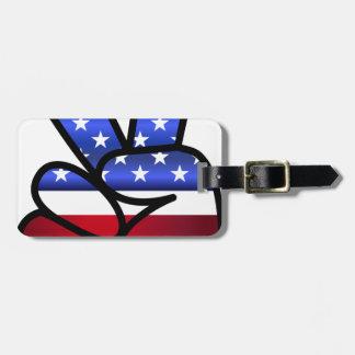 américain étiquettes bagages