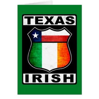 Américain irlandais du Texas Carte De Vœux