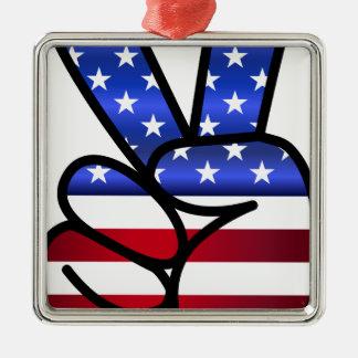 américain ornement carré argenté