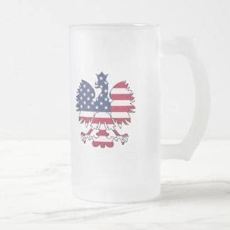 Américain polonais Eagle Frosted Glass Beer Mug