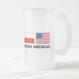 Américain polonais frosted glass beer mug