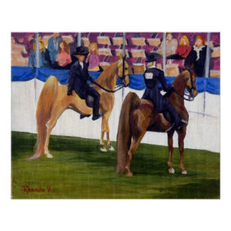 Américain Saddlebred sur le portrait de cheval de  Poster