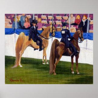 Américain Saddlebred sur le portrait de cheval de  Posters