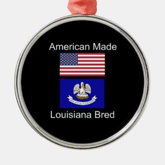 """""""Américain soutenu. La Louisiane a multiplié la"""" Ornement Rond Argenté"""