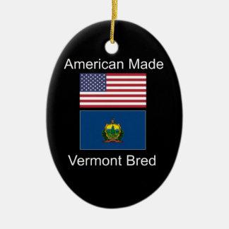 """""""Américain soutenu. Le Vermont a multiplié des"""" Ornement Ovale En Céramique"""