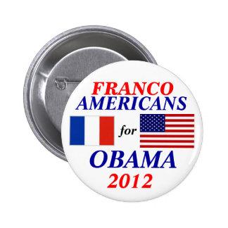 Américains de Franco pour Obama Pin's