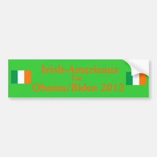 Américains irlandais pour Obama Biden 2012 Adhésifs Pour Voiture