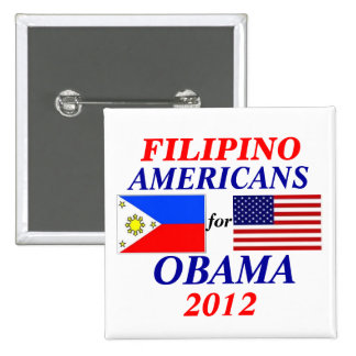 Américains philippins pour Obama Badge