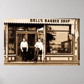 Americana vintage de salon de coiffure rétro poster