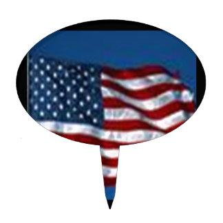 americanflag pique à gâteau