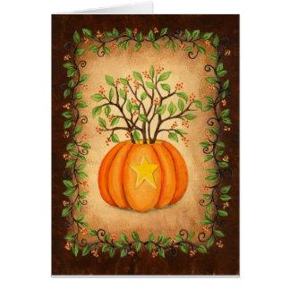 Amertume et citrouille Halloween Cartes