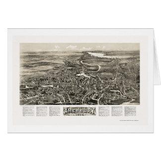 Amesbury, carte panoramique de mA - 1914