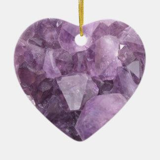 Améthyste violette molle ornement cœur en céramique