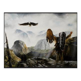 Ami bienvenu de Painting~ de Natif américain Cartes Postales