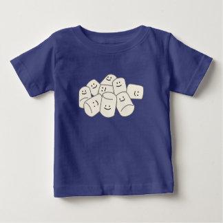 Ami collant de bonbon à souffle d'amis heureux de t-shirt pour bébé
