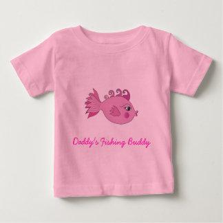 Ami de la pêche du papa t-shirt pour bébé