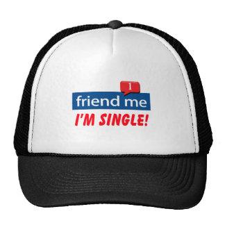 Ami je, je suis célibataire ! casquettes de camionneur