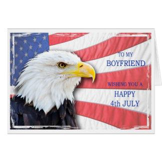Ami, le 4 juillet avec un aigle chauve et un cartes