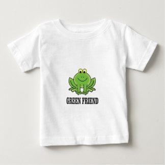 ami vert t-shirt pour bébé
