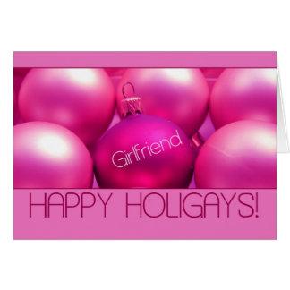 Amie - carte heureuse de Holigays (Noël de