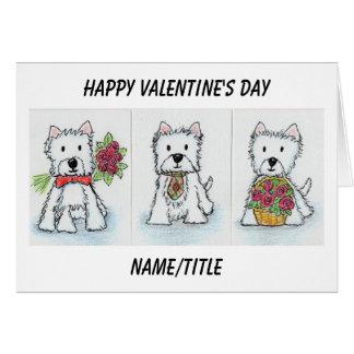 Amie d'épouse de carte de Saint-Valentin de Westie