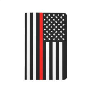 Amincissez la ligne rouge graphique de drapeau carnet de poche