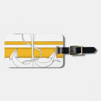 amiral arrière d'or, fernandes élégants étiquette à bagage