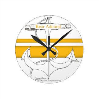amiral arrière d'or, fernandes élégants horloge ronde