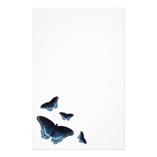 Amiral Dark-blue Butterflies Painted Rouge-Repérée Papeterie