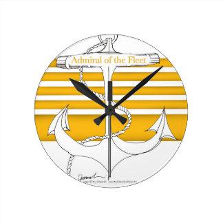 amiral d'or de la flotte, fernandes élégants horloge ronde