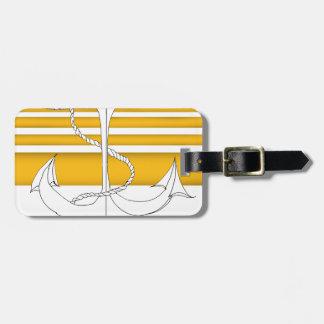 amiral d'or, fernandes élégants étiquette à bagage