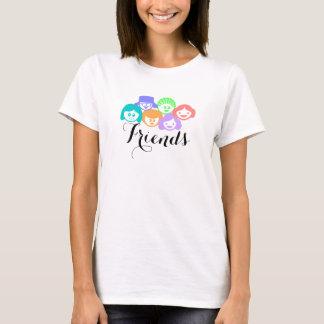 """""""Amis"""" amitié, le T-shirt des femmes"""