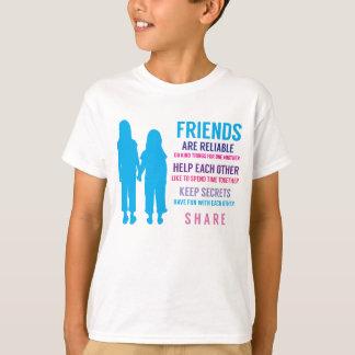 Amis d'amitié de filles inspirés t-shirt