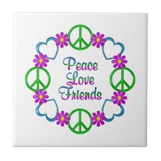 Amis d'amour de paix petit carreau carré