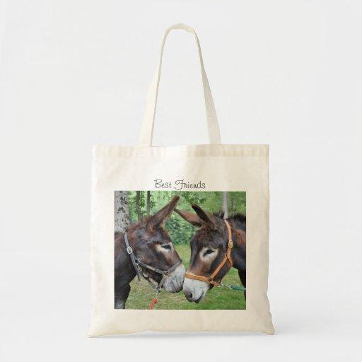 Amis d'âne sacs en toile
