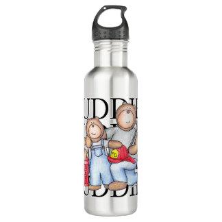 Amis de sapeur-pompier bouteille d'eau