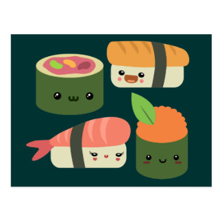 Amis de sushi carte postale