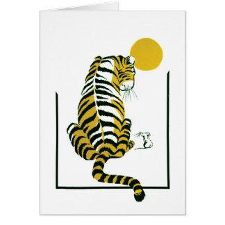 Amis de tigre et de souris carte de vœux