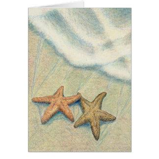 Amis d'étoiles de mer cartes de vœux