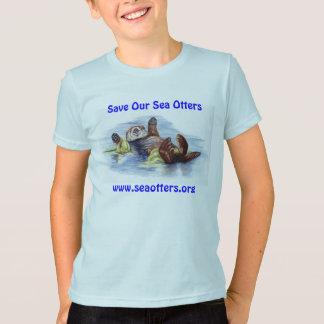 Amis du T-shirt de l'enfant de loutre de mer