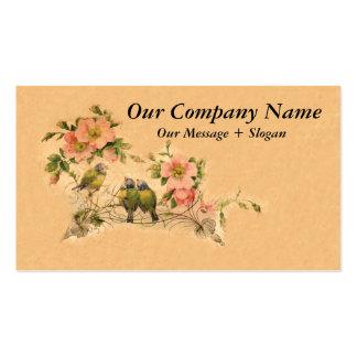 Amis élégants et vintages floraux et oiseaux cartes de visite professionnelles